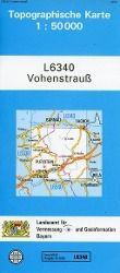 Topographische Karte Bayern Vohenstrauß