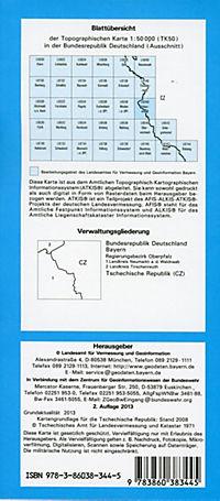 Topographische Karte Bayern Vohenstrauß - Produktdetailbild 1