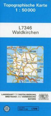 Topographische Karte Bayern Waldkirchen