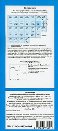 Topographische Karte Bayern Waldkirchen - Produktdetailbild 1