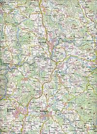 Topographische Karte Bayern Waldkirchen - Produktdetailbild 2