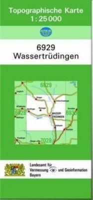 Topographische Karte Bayern Wassertrüdingen, Breitband und Vermessung, Bayern Landesamt für Digitalisierung