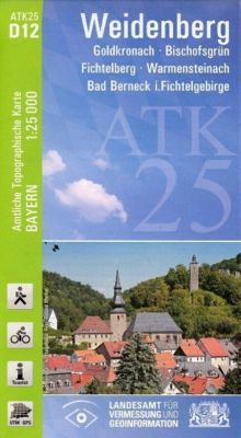 Topographische Karte Bayern Weidenberg, Breitband und Vermessung, Bayern Landesamt für Digitalisierung