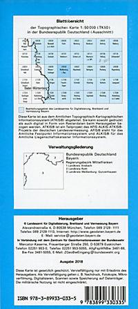 Topographische Karte Bayern Weißenburg i. Bay. - Produktdetailbild 1