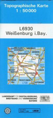 Topographische Karte Bayern Weißenburg i. Bay., Breitband und Vermessung, Bayern Landesamt für Digitalisierung