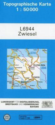 Topographische Karte Bayern Zwiesel