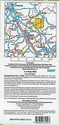 Topographische Karte Rheinland-Pfalz Ferienland Westerwald - Produktdetailbild 1
