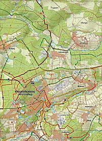 Topographische Karte Rheinland-Pfalz Ferienland Westerwald - Produktdetailbild 2