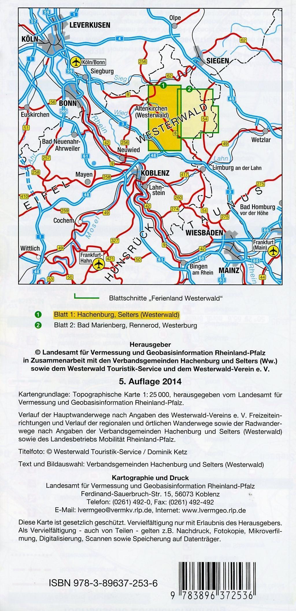 Westerwald Karte.Topographische Karte Rheinland Pfalz Ferienland Westerwald Buch