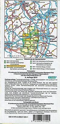 Topographische Karte Rheinland-Pfalz Naturpark Pfälzerwald - Produktdetailbild 1