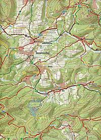 Topographische Karte Rheinland-Pfalz Naturpark Pfälzerwald - Produktdetailbild 2