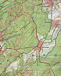 Topographische Karte Rheinland-Pfalz Naturpark Nassau - Produktdetailbild 2