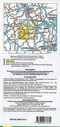 Topographische Karte Rheinland-Pfalz Naturpark Soonwald-Nahe - Produktdetailbild 1