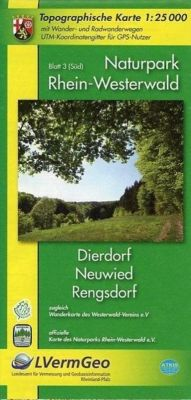 Topographische Karte Rheinland-Pfalz Naturpark Rhein-Westerwald