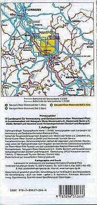 Topographische Karte Rheinland-Pfalz Naturpark Rhein-Westerwald - Produktdetailbild 1