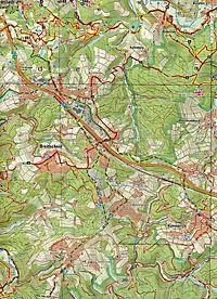 Topographische Karte Rheinland-Pfalz Naturpark Rhein-Westerwald - Produktdetailbild 2