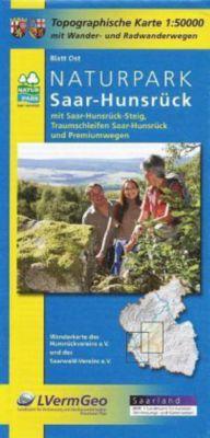 Topographische Karte Rheinland-Pfalz Naturpark Saar-Hunsrück, Blatt Ost