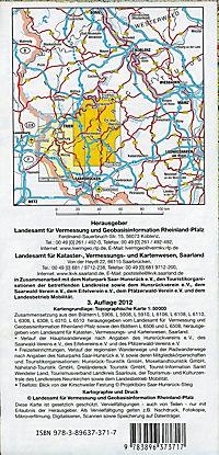 Topographische Karte Rheinland-Pfalz Naturpark Saar-Hunsrück, Blatt Ost - Produktdetailbild 1