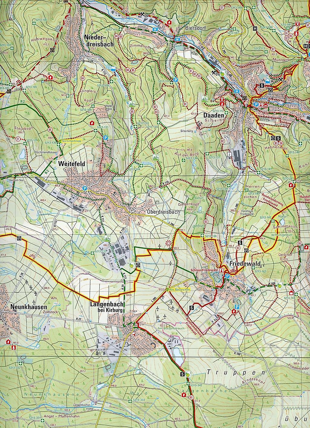 Westerwald Karte.Topographische Karte Rheinland Pfalz Nordlicher Westerwald Buch
