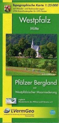 Topographische Karte Rheinland-Pfalz Westpfalz Mitte