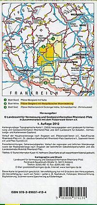 Topographische Karte Rheinland-Pfalz Westpfalz Mitte - Produktdetailbild 1