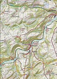Topographische Karte Rheinland-Pfalz Westpfalz Mitte - Produktdetailbild 2