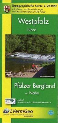 Topographische Karte Rheinland-Pfalz Westpfalz Nord
