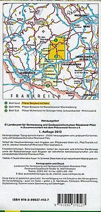 Topographische Karte Rheinland-Pfalz Westpfalz Nord - Produktdetailbild 1