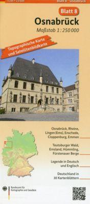 Topographische Karte und Satellitenbildkarte Osnabrück - BKG - Bundesamt für Kartographie und Geodäsie |