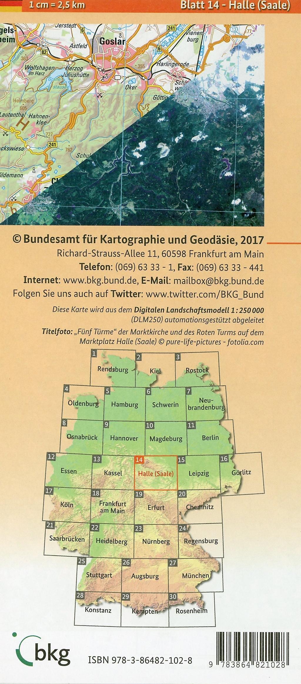 Halle Saale Karte.Topographische Karte Und Satellitenbildkarte Halle Saale Buch