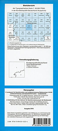 Topographische Karten Niedersachsen: Bl.3724 Hannover - Produktdetailbild 1