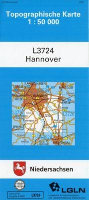 Topographische Karten Niedersachsen: Bl.3724 Hannover