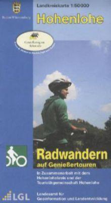 Topographische Landkreiskarte Baden-Württemberg Hohenlohe