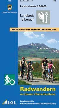 Topographische Landkreiskarte Baden-Württemberg Landkreis Biberach