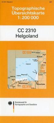 Topographische Übersichtskarte CC2310 Helgoland 1 : 200 000
