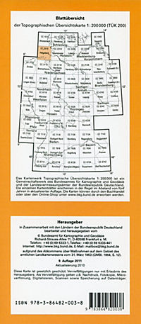 Topographische Übersichtskarte CC2310 Helgoland 1 : 200 000 - Produktdetailbild 1