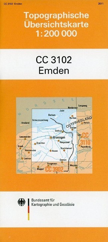 Emden Karte.Topographische Ubersichtskarte Cc3102 Emden 1 200 000 Buch