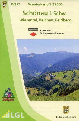 Topographische Wanderkarte Baden-Württemberg Schönau im Schwarzwald
