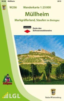 Topographische Wanderkarte Baden-Württemberg Müllheim