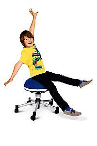 "Topstar Sitzhocker ""Sitness Junior Half Ball"" (Farbe: blau) - Produktdetailbild 2"