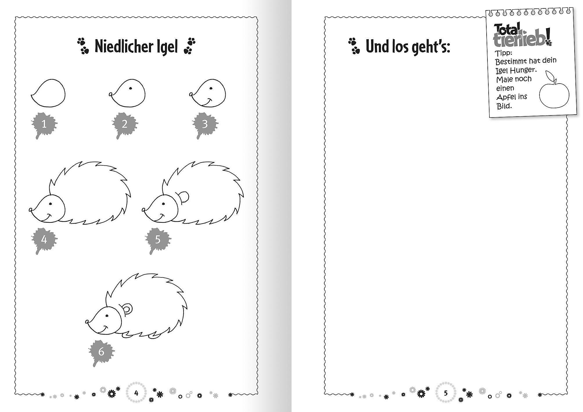 Total Tierlieb Tiere Zeichnen Lernen Buch Weltbild De
