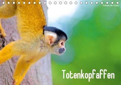 Totenkopfaffen (Tischkalender 2019 DIN A5 quer), Tobias de Haan