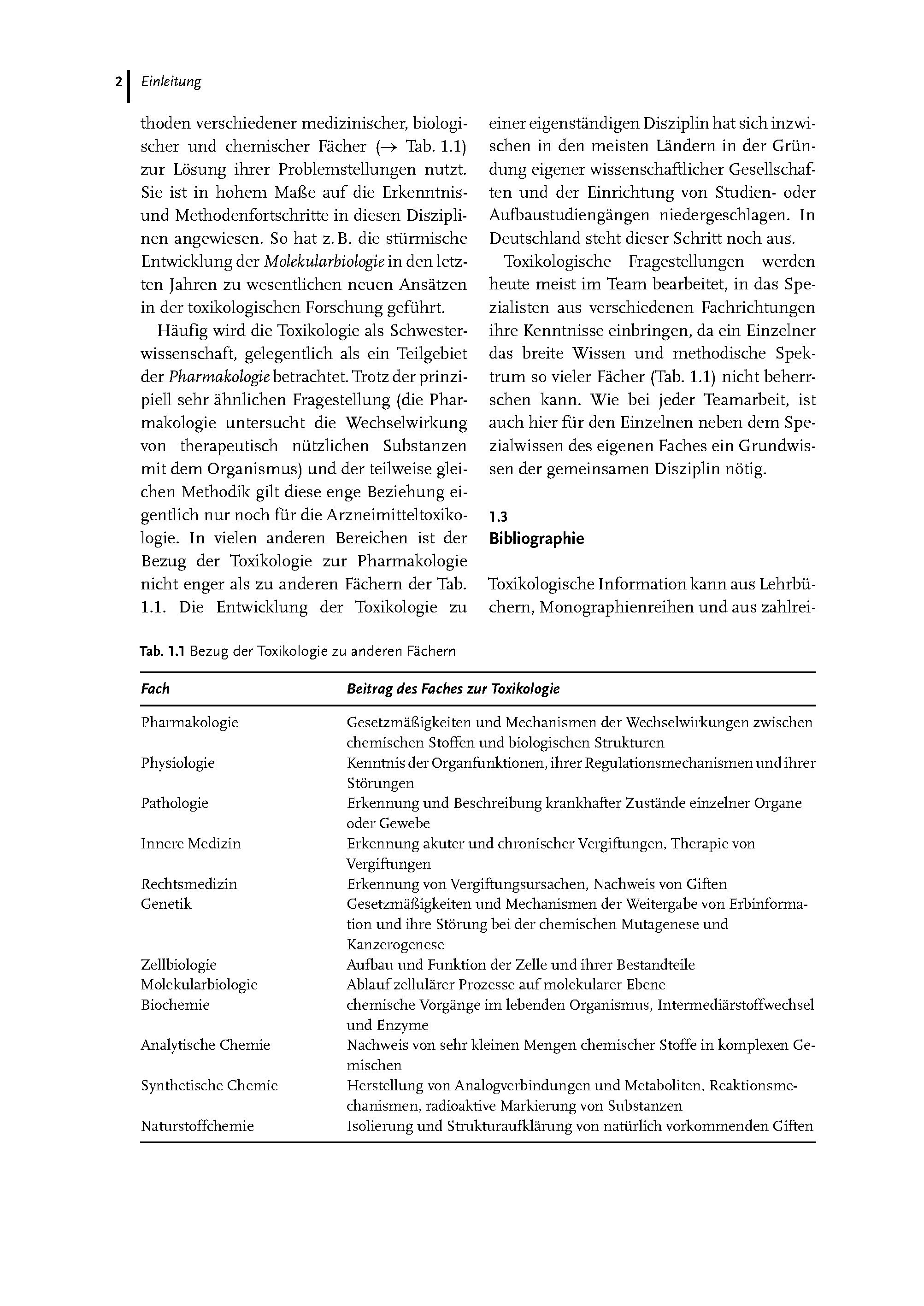 Toxikologie Für Naturwissenschaftler Und Mediziner Buch