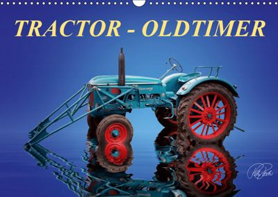 Tractor - Oldtimer / UK-Version (Wall Calendar 2019 DIN A3 Landscape), Peter Roder