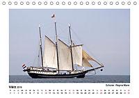 Traditionsschiffe auf der Ostsee (Tischkalender 2019 DIN A5 quer) - Produktdetailbild 3
