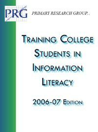 Training College Students in Information Literacy, Primary Research Group Staff