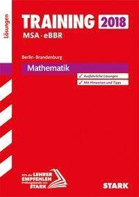 Training Mittlerer Schulabschluss 2018 - Berlin/Brandenburg - Mathematik Lösungen