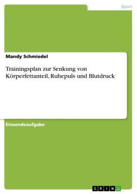 Trainingsplan zur Senkung von Körperfettanteil, Ruhepuls und Blutdruck, Mandy Schmiedel