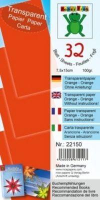 Transparentpapier orange