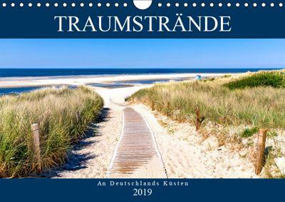 Traumstrände an Deutschlands Küsten (Wandkalender 2019 DIN A4 quer), Andrea Dreegmeyer